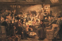 an edinburgh flower market by arthur percy dixon