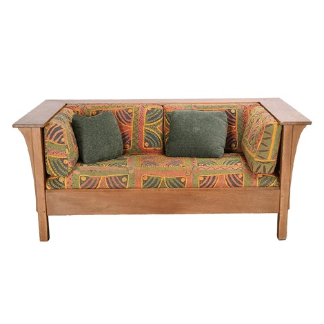 Swell Stickley Arts And Crafts Style Oak Sofa With East By Uwap Interior Chair Design Uwaporg