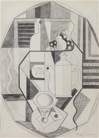 cubist composition by jean metzinger