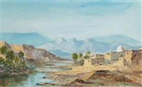 paysage du sud algérien by pierre auzole