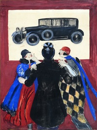 devant l'auto by leonetto cappiello