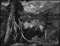 shadow lake, sierra nevada by ansel adams