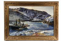 monhegan winter fleet by andrew winter