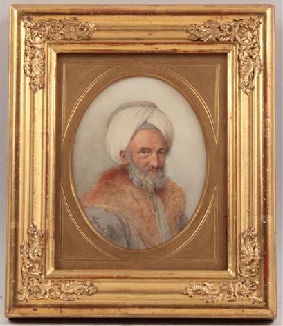 bildnis eines orientalen mit turban by carl josef alois agricola