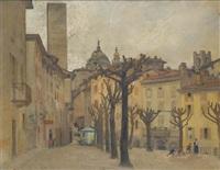 piazza di bergamo antica by alfonso corradi