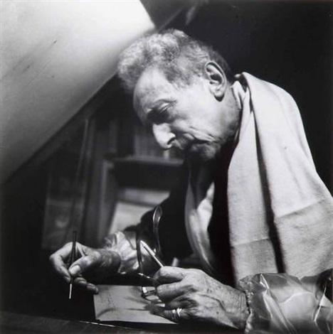jean cocteau retouchant un cuivre atelier bracons by pierre argillet
