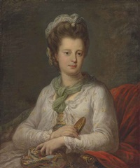 portrait of elizabeth kerr (1745-1780), née fortescue, marchioness of lothian by angelika kauffmann