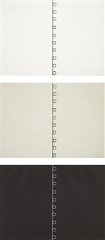 untitled (triptych for the stedelijk) (set of 3 works) by dan flavin