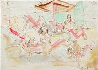 la plajă by marcel janco