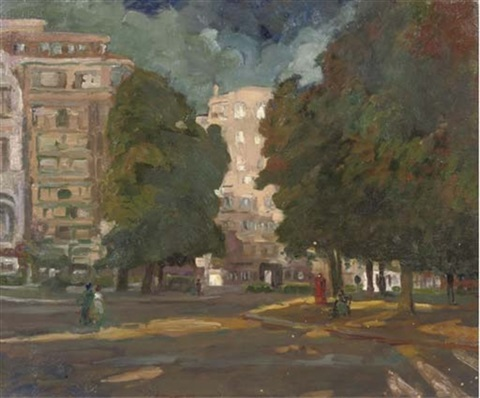 a square in brussels by maurice paul