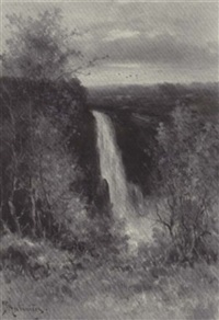 the falls of montmorency near quebec by georgina m. de l' aubiniere