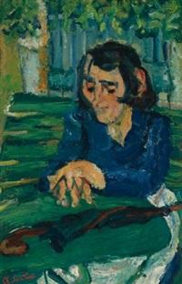 femme au parapluie by chaïm soutine