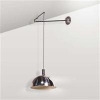 lampada da muro con altezza regolabile e braccio oscillante by franca helg, antonio piva and franco albini