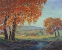 stream in autumn by george sanders bickerstaff