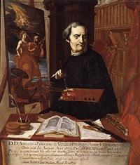 portrait of acisclo antonio palomino de castro y velasco by juan baptista simo