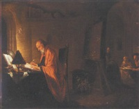 a scholar in his study by hendrik heerschop