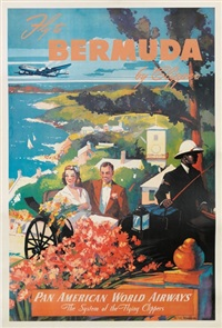 fly to bermuda by clipper/pan american by mark von arenburg