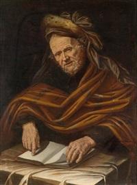 alter mann mit buch by pietro bellotti