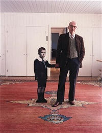 saul steinberg, with himself as a little boy, long island by evelyn hofer