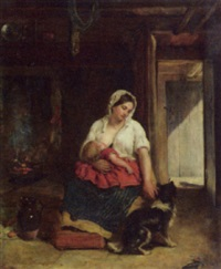 nursing mother by frederick bacon barwell