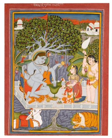 shiva parvati and their family by anonymous indian 19