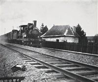la crampton à la sortie de la gare de saint dizier by henri vial
