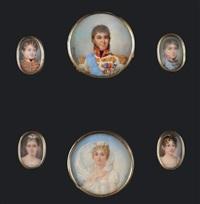 joachim murat, roi de naples, portant les insignes de l'ordre royal des deux siciles et de la légion d'honneur (+ 5 others, various sizes; 6 works) by giacomo andreoli