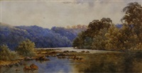 the head of south west arm, port hacking river by neville william cayley