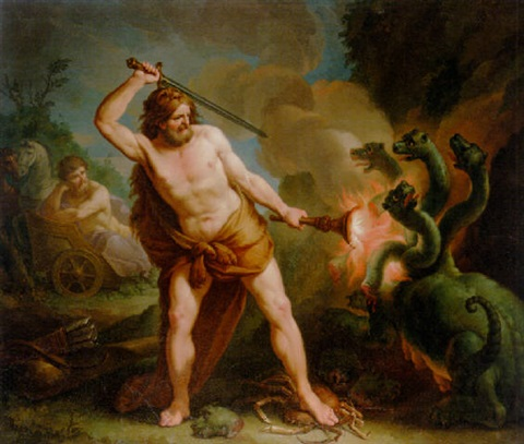 hercules and the laernaean hydra by francesco manno