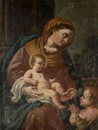 la vierge à l'enfant avec saint jean-baptiste by francesco solimena