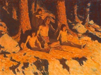 the story of where the sun goes by frederic remington