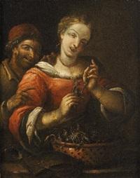 donna morsa da un granchio by felice boselli