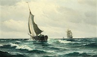 seascape by vilhelm victor bille