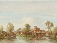 paysage au moulin by camille flers