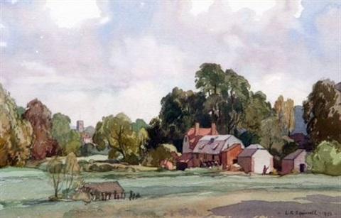 old mill new alresford lincs by leonard russel squirrell
