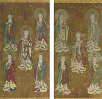 a pair of water land deliverance ritual paintings by anonymous-chinese (qing dynasty)