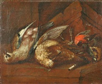 still-life with dead birds by johann adalbert angermayer