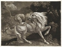 a lion devouring a horse by george stubbs
