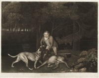 freeman, keeper to the earl of clarendon, with a hound and a wounded doe (death of the doe) by george stubbs
