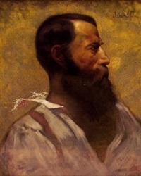 profilportrait eines bärtigen mannes by adolf rummel
