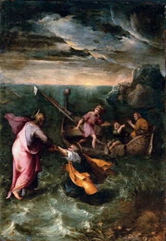 Christ calming the storm on the sea of galilee by girolamo muziano christ calming the storm on the sea of galilee by girolamo muziano publicscrutiny