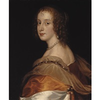 portrait of a lady, said to be anna dalkeith, countess of morton by sir anthony van dyck