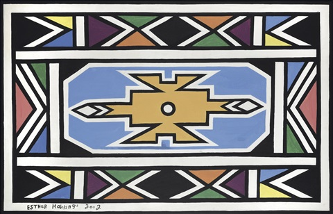 ohne titel by esther mahlangu