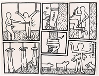 the blueprint drawings by keith haring