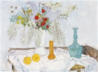 stilleven met bloemenvaas by frederick arthur jessup