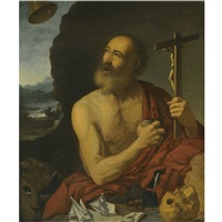 the penitent saint jerome by francisco collantes
