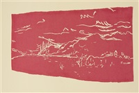 loch ness (4 works + 6 etchings; 10 works, some smllr) by barry flanagan
