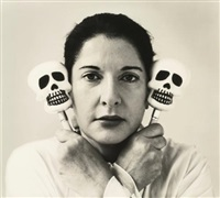 self-portrait with maracas by marina abramović