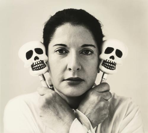 self portrait with maracas by marina abramović