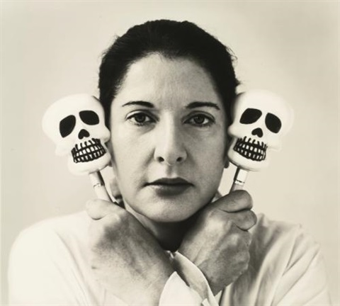 self portrait with maracas by marina abramovic